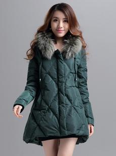 2015韩版中长款时尚羽绒服 R1510#