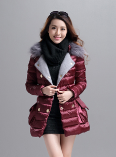 韩版时尚羽绒服 新款女装羽绒服 R1518#