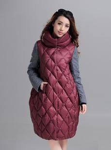 欧洲站长款女装羽绒服  时尚羽绒服 R1540#