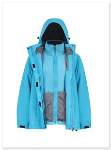保暖防寒三合一冲锋衣加工生产厂家
